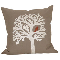 Lockwood Crema/Smoked Pearl/Ribbon Red Pillow