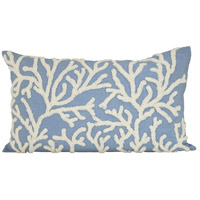 Pomeroy 901621 Coralyn 20 X 6 inch Cool Waters/Crema Decorative Pillow