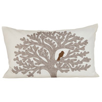 Lockwood Cream/Smoked Pearl/Ribbon Red Pillow