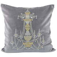Chandelier Chateau Gray/Gold Decorative Pillow