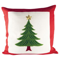 Evergreen Ribbon Red/Evergreen/Snow Pillow