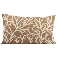 Pomeroy 902406 Coralyn 20 X 6 inch Smoked Pearl/Crema Decorative Pillow