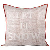 Let It Snow Cafe/Snow Holiday Pillow