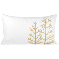 Winter Gliter Crema/Gold Holiday Pillow