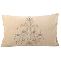 Chandelier Champagne/Chateau Graye Holiday Pillow