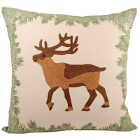 Elk 20 inch Cafe with Evergreen Pillow Cover
