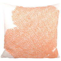 Reefcrest Coral/White Pillow