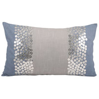 Pomeroy 904172 Nautica 20 X 6 inch Cool Waters/Silver Decorative Pillow