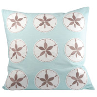 Tropica 20 X 6 inch Teal/Smoked Pearl Decorative Pillow