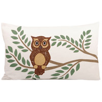 Pomeroy 904264 Owl 20 X 6 inch Evergreen/Cafe Decorative Pillow