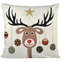 Pomeroy 904400 Donner Snow/Coco/Holiday Hues Holiday Pillow