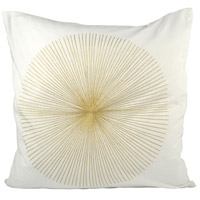 Centra 20 X 6 inch Snow/Gold Decorative Pillow