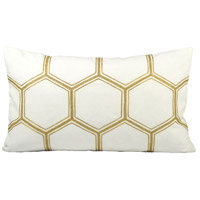 Pomeroy 904578 Hex 20 X 6 inch Snow/Gold Decorative Pillow