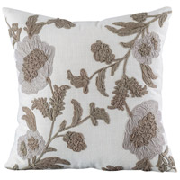 Pomeroy 905230 Olivia 20 X 20 inch Coco with Crema Pillow Cover