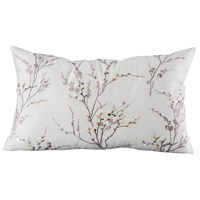 Willow 26 X 6 inch Crema and Smoked Pearl Pillow