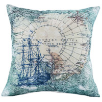 Voyage 20 inch Crema with Seafoam Pillow Cover
