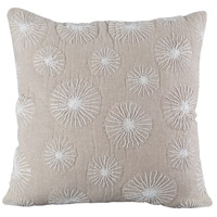Pomeroy 905629 Urban Flowers 20 inch Crema with Sand Pillow Cover