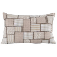 Patchworth 26 inch Crema with Sand Pillow Cover