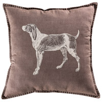 Totman 20 inch Crema with Taupe Pillow Cover