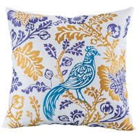 Pomeroy 905667 Paradise 20 inch Gold with Purple and Teal Pillow Cover