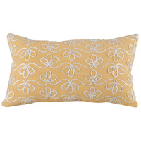 Darlya 20 inch Crema with Deep Mustard Pillow Cover