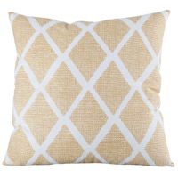 Lattius 20 inch Crema with Deep Mustard Pillow Cover