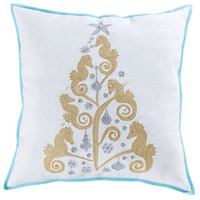 Pomeroy 906213 Coastal Christmas 24 X 6 inch Gold and Seafoam Pillow