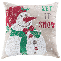 Pomeroy 906220 Snowfall 20 X 6 inch Crema and Holiday Hues Pillow photo thumbnail