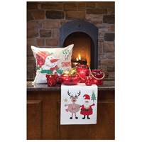 Pomeroy 906220 Snowfall 20 X 6 inch Crema and Holiday Hues Pillow alternative photo thumbnail