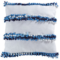 Lochport 20 X 6 inch Soft Denim with White Pillow Cover