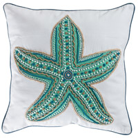 Caspian 20 X 6 inch Crema with Seafoam and Turquoise Pillow Cover