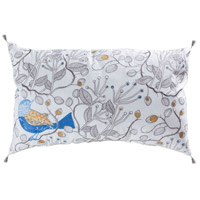 Northdell 26 X 6 inch Blue with Crema Lumbar Pillow Cover