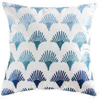Sanibel 20 X 6 inch Blue with Crema and Grey Pillow Cover