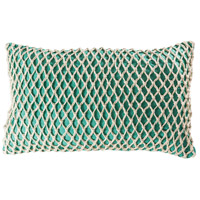 Cassio 26 X 6 inch Aqua with Deep Azure Lumbar Pillow Cover