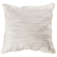 Mossley 24 X 6 inch Cream with Grey Pillow Cover, Fringe