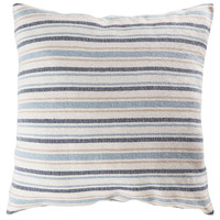 Mossley 24 X 6 inch Blue with Crema Pillow Cover, Stripe
