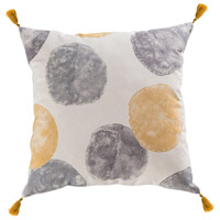 Norfolk 20 X 6 inch Grey and Sun Glow Pillow
