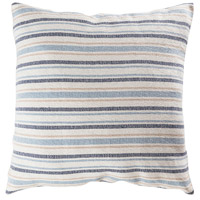 Pomeroy 906855 Mossley 24 X 6 inch Blue and Crema Pillow, Stripe