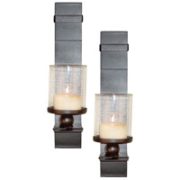 Pomeroy Bolo Set of 2 Wall Sconce in Rustic/Clear 914546
