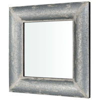 Pomeroy 916908 Coventry 36 X 36 inch Distressed White Galvanized Wall Mirror alternative photo thumbnail