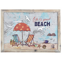 Pomeroy 917554 Beach Life Coral and Cool Waters Wall Decor