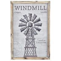 Windy Farms Weathered Grey and Natural Wall Decor