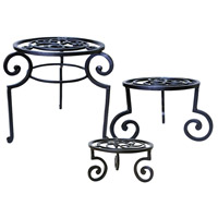 Venice Brown Outdoor Garden Stools, and Plant Stands