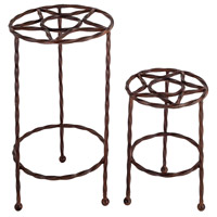 Tejas Montana Rustic Outdoor Plant Stands