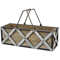 Avery Hill Galvanized/Natural Garden Item, Rectangle