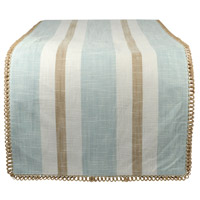 Carril Light Blue/White/Sand Table Runner