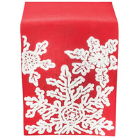 Neve Ribbon Red/Crema Table Runner