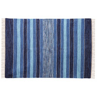 Santos 72 X 48 inch Blue/Crema/Soft Denim Rug