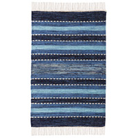 Santos 36 X 24 inch Blue/Soft Denim/Crema Rug