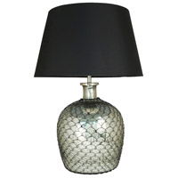 Rustique 24 inch Antique Silver and Black Table Lamp Portable Light